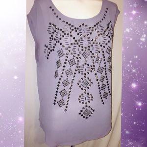 Ecote sheer embellished top from Urban Outfitters